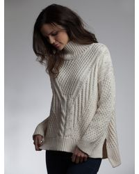 525 America Handknit Cable W Hilo Detail - Lyst