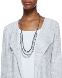 Eileen Fisher - 3-Strand Bindu Silk Beaded Necklace - Lyst