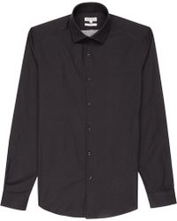 Reiss Brexby Stitch Pattern Shirt - Lyst