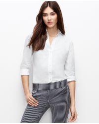 Ann Taylor Petite Lacy Shirt - Lyst