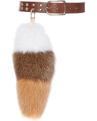 Sonia Rykiel White Striped Tail Pompom - Lyst