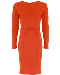 Noё Red Structured Jersey Dress - Lyst