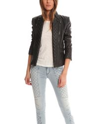 Balmain Leather Jacket Black - Lyst
