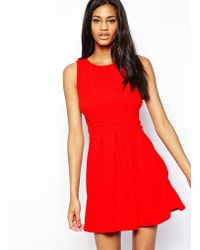 Tfnc Skater Dress with Open Scallop Back - Lyst