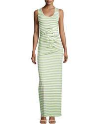 Nicole Miller Sleeveless Tidal Wave Maxi Dress - Lyst