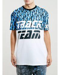 Topman Track Team Motocross Tshirt - Lyst