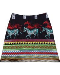 Suno Zebra Mini Skirt - Lyst