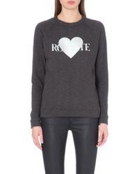 Rodarte Rohearte Jersey Sweatshirt - Lyst