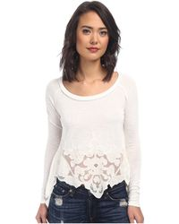 Free People Viscose Poly Jersey That'S Amore Tee - Lyst