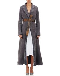 Protagonist - Belted Shearling Coat - Lyst