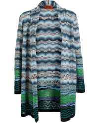 Missoni Wool Blend Knit Long Cardigan - Lyst