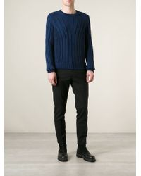 Fendi Ribbed Knit Sweater - Lyst