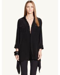 Ralph Lauren Black Label Silk Waverly Shirt - Lyst