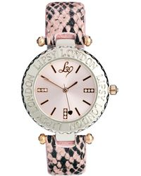 Lipsy - Dusky Pink Snake Strap Watch with Pink Dial - Lyst