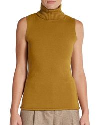 Lafayette 148 New York Cashmere Turtleneck Top - Lyst