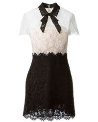 Valentino Bow Collar Lace Dress - Lyst