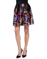 Milly Katie Bouquet Floral-print Skirt - Lyst