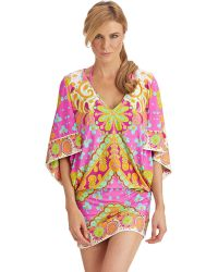 Trina Turk Woodblock Floral Tunic Cover Up - Lyst