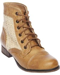 Steve Madden Thundrc Fauxleather Ankle Boots - Lyst