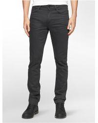 Calvin Klein | Jeans Slim Leg Coated Black Wash Jeans | Lyst