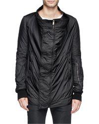 DRKSHDW by Rick Owens Extra Wide Collar Nylon Jacket - Lyst
