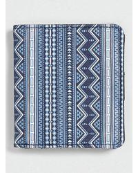 Topman Blue Aztec Print Wallet - Lyst