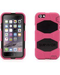 Griffin Pink & Black Survivor All-Terrain Iphone 6 Plus Case
