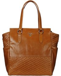 Guess Leather Bag Hwafro - Lyst