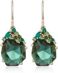 Alexis Bittar Fine - Silver Green Quartz Drop Earrings - Lyst