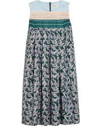 Suno Printed Cotton-Blend Faille Mini Dress - Lyst