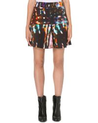 McQ by Alexander McQueen Mcq Lights Print Fit and Flare Skirt  - Lyst