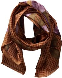 Lauren by Ralph Lauren Brown Flora Scarf - Lyst