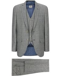 Hackett Prince Of Wales Over Check Suit - Lyst