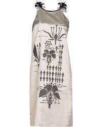Christopher Kane Knee-Length Dress gray - Lyst