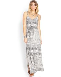 Forever 21 Wistful Slit Maxi Dress - Lyst