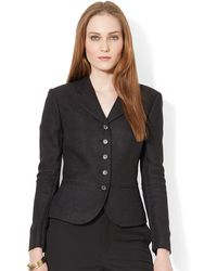 Lauren by Ralph Lauren Herringbone Tweed Jacket - Lyst