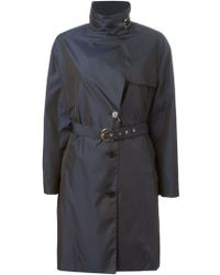 Ferragamo Funnel Neck Rain Coat - Lyst
