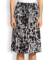 Max Mara Nostoc Textured Floral-Print Skirt - Lyst