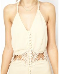 Jarlo Siobhan Cami Mini Slip Dress With Lace Insert - Lyst
