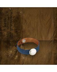 Denim & Supply Ralph Lauren Blue Suedecoin Bracelet - Lyst