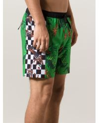 Julien David - X Quiksilver Printed Swim Shorts - Lyst