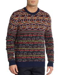 Marc By Marc Jacobs Finsbury Merino Wool Fair Isle Sweater - Lyst