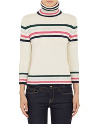 Barneys New York Striped Cashmere Turtleneck Pullover Sweater - Lyst