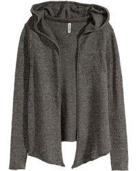 H&M Hooded Cardigan - Lyst