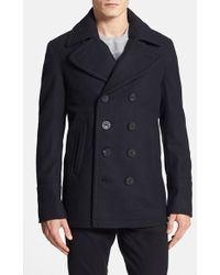 Burberry Brit - Burberry 'eckford' Wool & Cashmere Peacoat - Lyst
