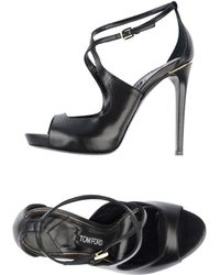 Tom Ford Platform Sandals - Lyst