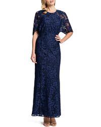 Cynthia Steffe Mara Half-Sleeve Lace Maxi Dress - Lyst