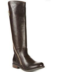Report Jadah Asymmetrical Side Zip Boots - Lyst