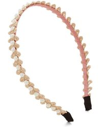 Nova Inc. Twirling In Pearls Headband - Lyst