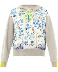 Preen Forget Me Not Hooded Sweatshirt - Lyst